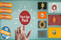 پروژه افتر افکت آماده videohive-10654045-touch-logo-pack-flat-interactive-media-reveals
